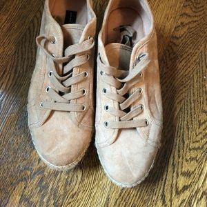 Steve Madden beige espadrille sneakers